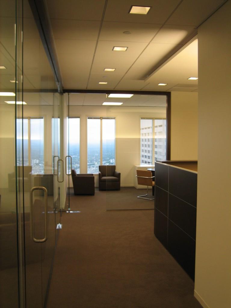 Investment office 6 hallway kelly braun design for Office hallway design