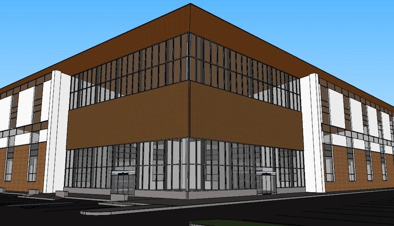 Vancouver site study 1 6 lobby exterior kelly braun design for Exterior design vancouver wa